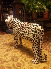 A huge Pipe Cleaner Leopard made entirely out of pipe cleaners