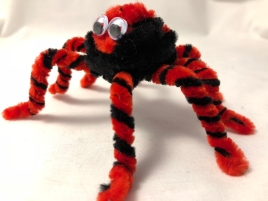 Completed pipe cleaner spider