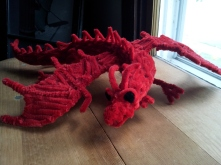 Front view of the pipe cleaner dragon