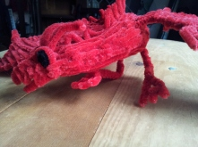 Side view of the pipe cleaner dragon