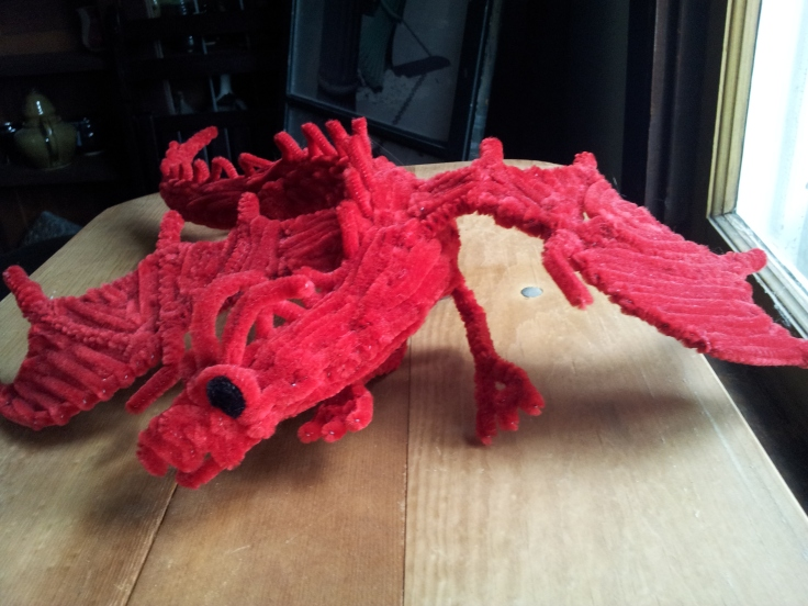 Pipe cleaner dragon animal red