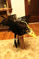 Pipe cleaner eagle frame under construction