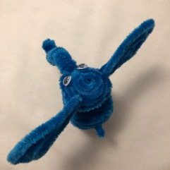 pipe cleaner elephant top view