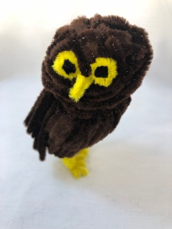 Pipe cleaner (chenille stem) owl