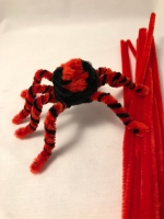 pipe cleaner spider pose