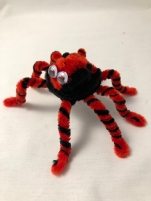 pipe cleaner spider side view 3