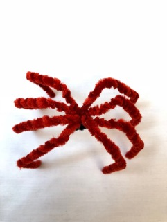 pipe cleaner spider top view