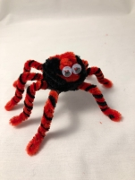 pipe cleaner spider with eyes