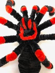 pipe cleaner tarantula close up
