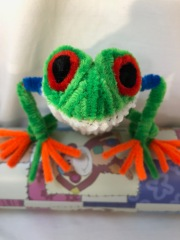 pipe cleaner tree frog face 2