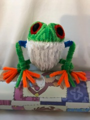 pipe cleaner tree frog front 5