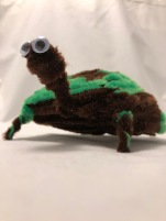 Pipe cleaner turtle chenille stem completed
