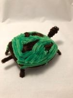 Pipe cleaner turtle rear view