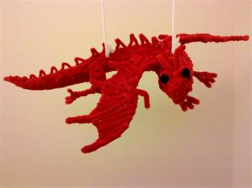 red pipe cleaner dragon