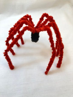 super easy chenille stem spider